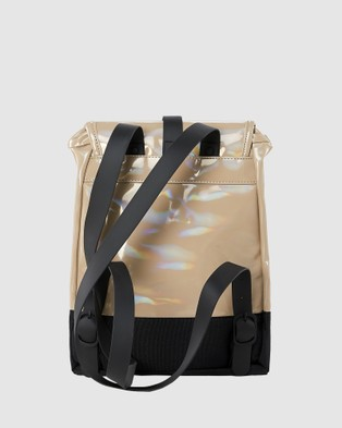RAINS Drawstring Backpack - Bags (Holographic Beige)