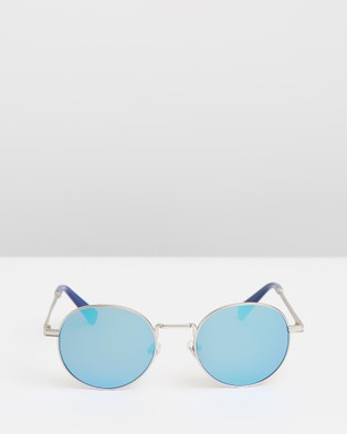 Hawkers Co Silver Clear Blue MOMA - Sunglasses (Blue)