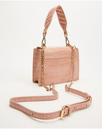 Olga Berg - Molli Croc Embossed Top Handle Bag