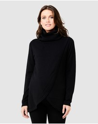 Ripe Maternity - Cowl Neck Nursing Knit