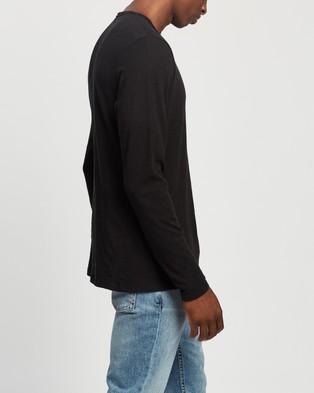 rag & bone Classic LS Tee - T-Shirts & Singlets (Black)
