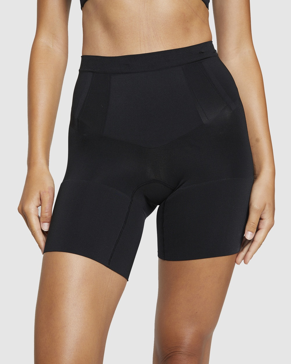 Spanx Oncore High Waisted Mid Thigh Shorts Lingerie Black High-Waisted Mid-Thigh