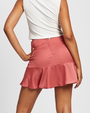 All About Eve Natalie Flippy Skirt Skirts PLUM