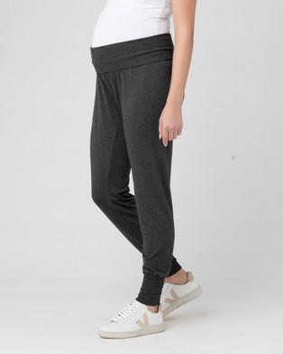 Ripe Maternity Jersey Lounge Pants - Track Pants (Charcoal)