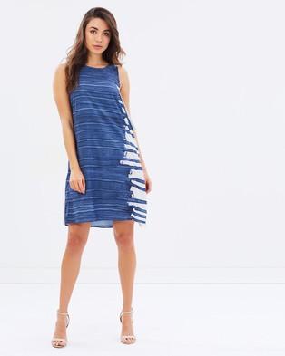 Wite – Blue Poles Dress Multi