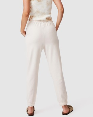 Cotton On High Waist Track Pants Sweatpants Sandstone High-Waist