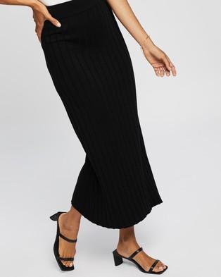 AERE Knit Skirt - Pleated skirts (Black)