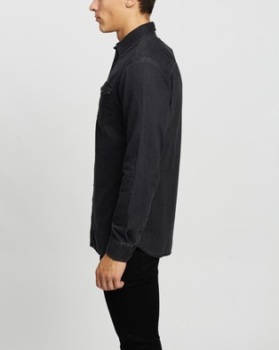 Jack & Jones Denim LS Shirt - Casual shirts (Black Denim)