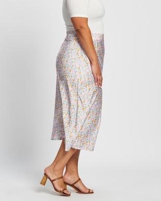 Atmos&Here Curvy Rosie Midi Skirt - Skirts (Pretty Ditsy Floral)