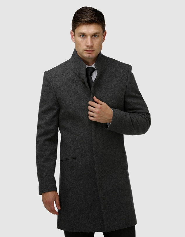 Brooksfield - Sleek Long-line Overcoat