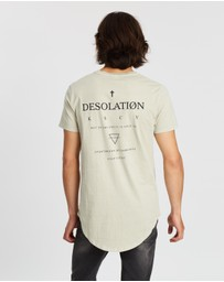 Kiss Chacey - Desolation Dual Short Sleeve Curved Hem Tee