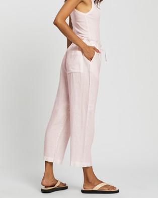Assembly Label Ollie Linen Pants - Pants (Pink Dew)