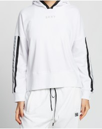 DKNY - Cropped Hoodie with Pop & Reflective Taping