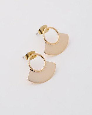 Soko Petite Paddle Studs - Jewellery (Gold)