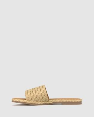 Betts Pia Raffia Slides - Casual Shoes (Natural Raffia)