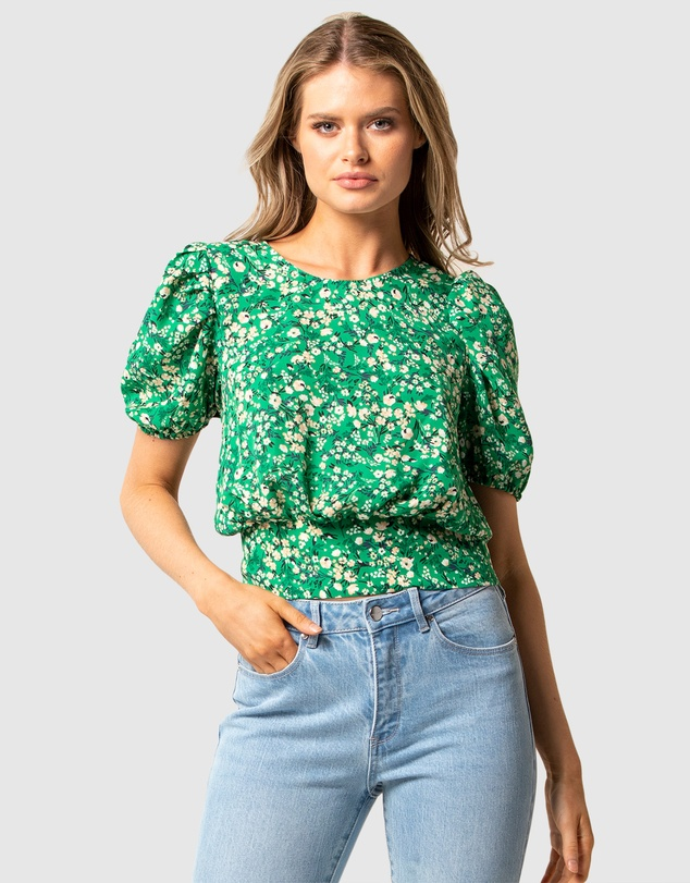 Forever New - Katie Ditsy Puff Sleeve Top
