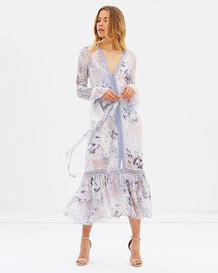 We Are Kindred – Camilla Shirt Dress – Printed Dresses Lilac Fields