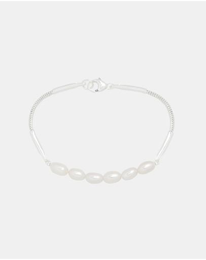 Saint Valentine Relic Pearl Bracelet Silver