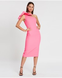 BY JOHNNY. - Lani Tie Shoulder Midi Dress