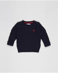 Polo Ralph Lauren - Long Sleeve Cable Crew Neck Sweater - Babies