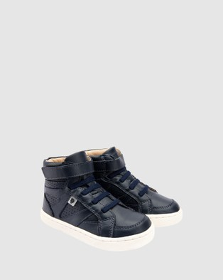 Old Soles Urban Starter Boys Shoes - Boots (Navy/White)