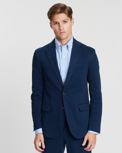Garment-Dyed Cotton Stretch Chino Sportcoat