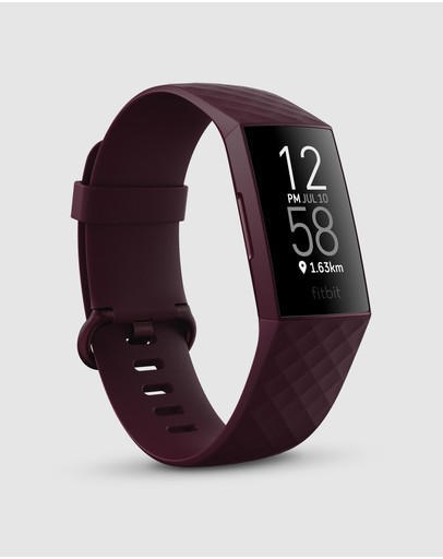 Fitbit - Fitbit Charge 4 Advanced Health and Fitness Tracker - Rosewood
