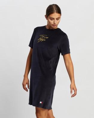 Tommy Hilfiger Short Sleeve T Shirt Dress - Dresses (Desert Sky)