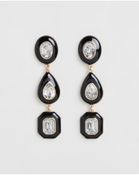 TOPSHOP - Resin Gem Drop Earrings