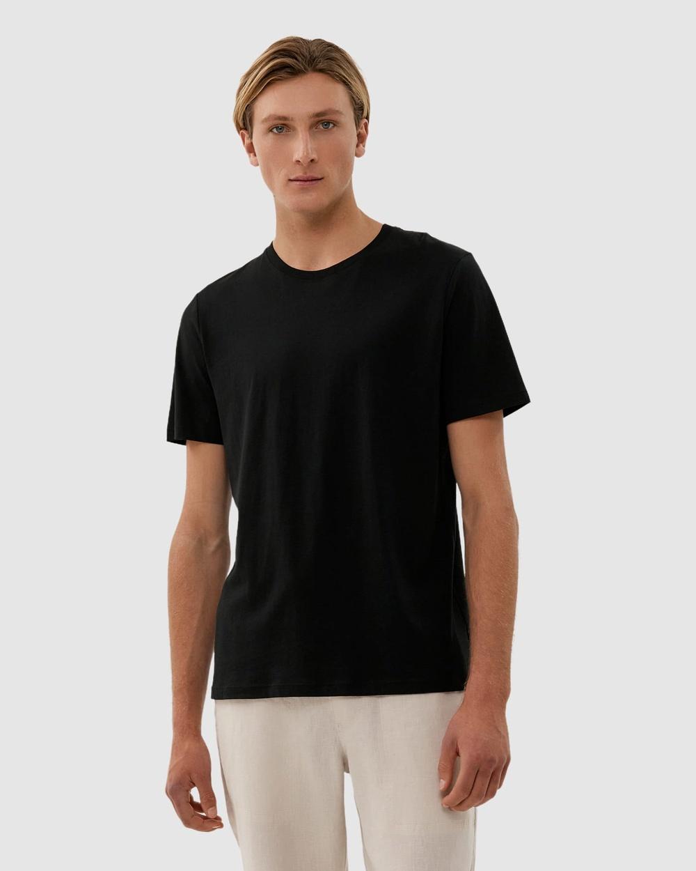 Jag - Organic Split Tee - T-Shirts & Singlets (Black) Organic Split Tee