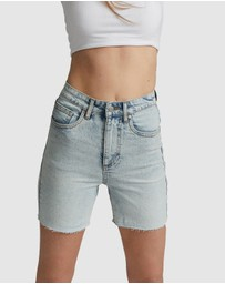 Cotton On - Stretch Slim Denim Bermuda Shorts