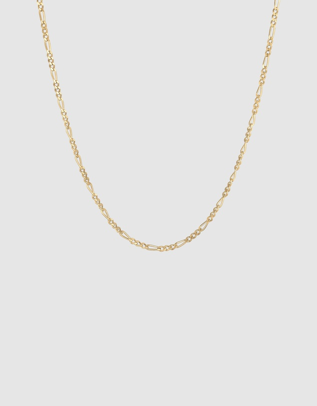 Kuzzoi - Necklace Figaro Basic Trend in 925 Sterling Silver Gold Plated
