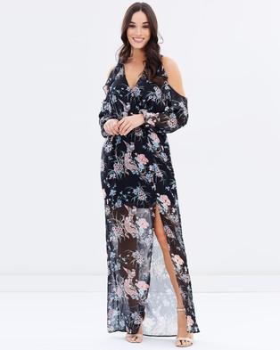 Lipsy – Cold Shoulder Maxi Dress Multi