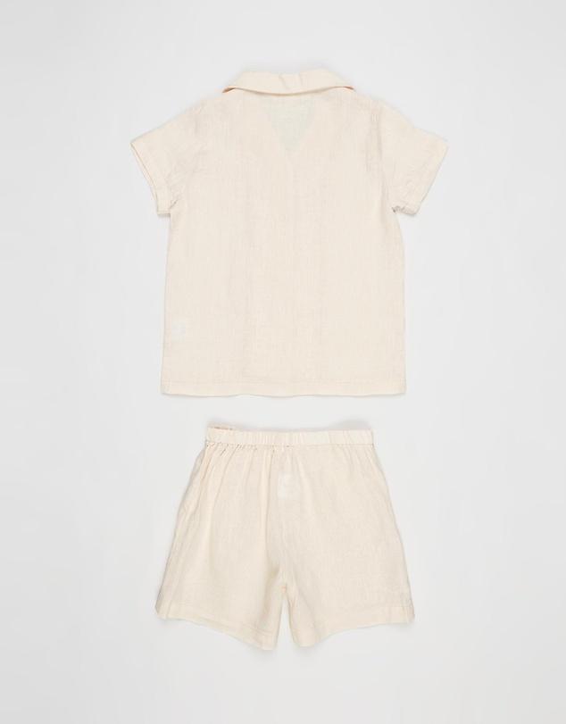 Women Linen Pyjama Set - Kids