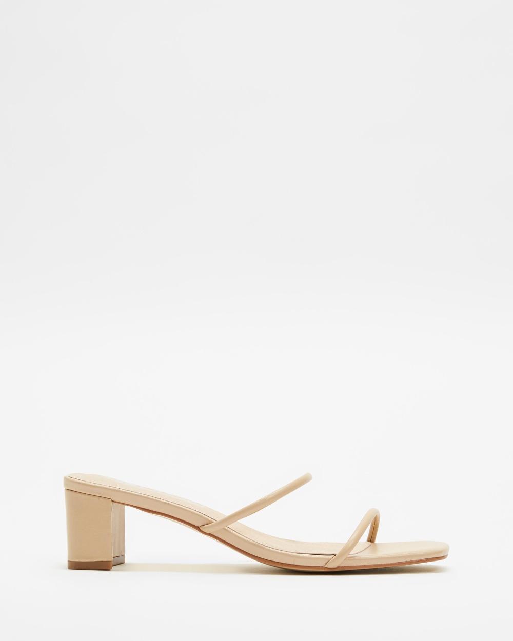 Sol Sana ICONIC EXCLUSIVE Lottie Mules Sandals Nude Australia