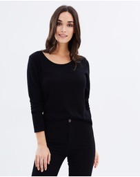 Bamboo Body - Bamboo Cashmere Wool Scoop Knit