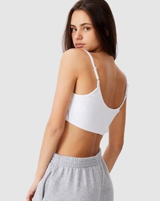 Factorie Ultra Crop Tank - T-Shirts & Singlets (White)