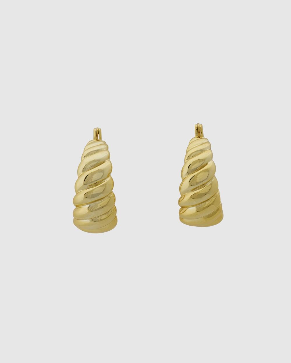 ALIX YANG Mona Hoops Jewellery Gold