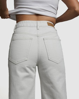 Cotton On Petite Wide Leg Jeans - Relaxed Jeans (Whitehaven)