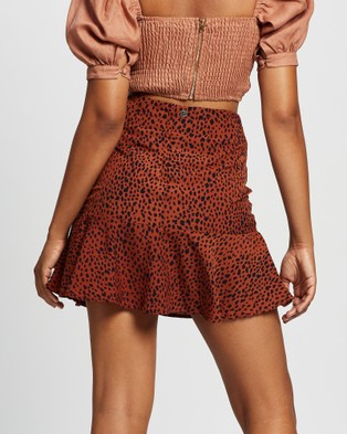 All About Eve Bowie Flippy Skirt Skirts PRINT
