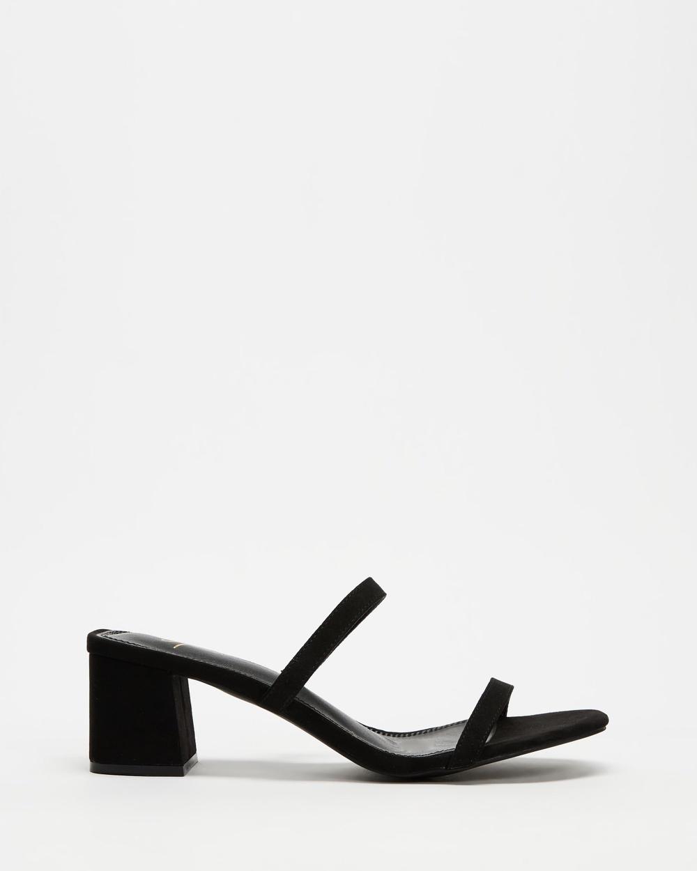 SPURR Ruth Heels Mid-low heels Black Microsuede Mid-low heels Australia