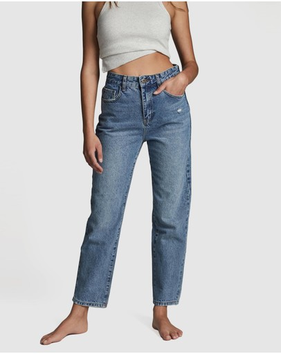 Cotton On Mom Jeans Jetty Blue