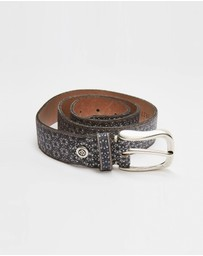 B.Belts - Metallic Leather Belt