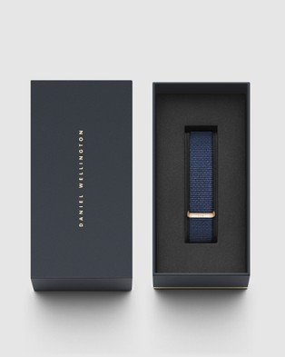 Daniel Wellington Nato Strap Bayswater 18mm Watch Band For Classic 36mm Watches Rose gold