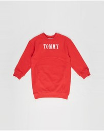 Tommy Hilfiger - Graphic Long Sleeve Sweat Dress - Kids