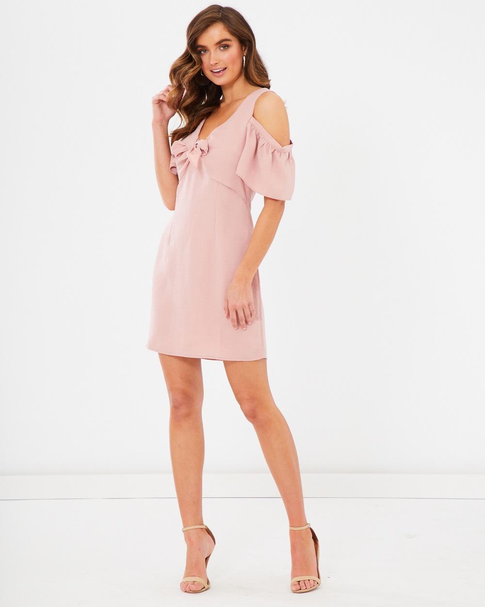 Tussah Corby Mini Dress Dresses Pale Pink Corby Mini Dress