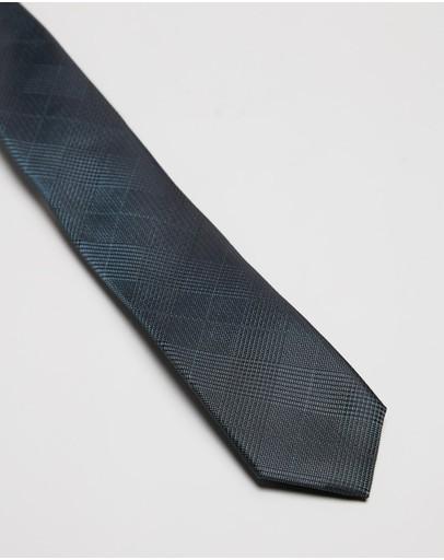Ben Sherman Check Tie Green