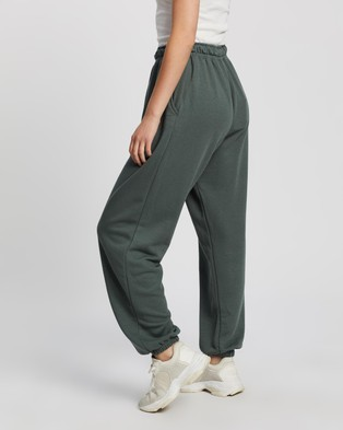 Missguided 90s Oversized Joggers - Sweatpants (Green)