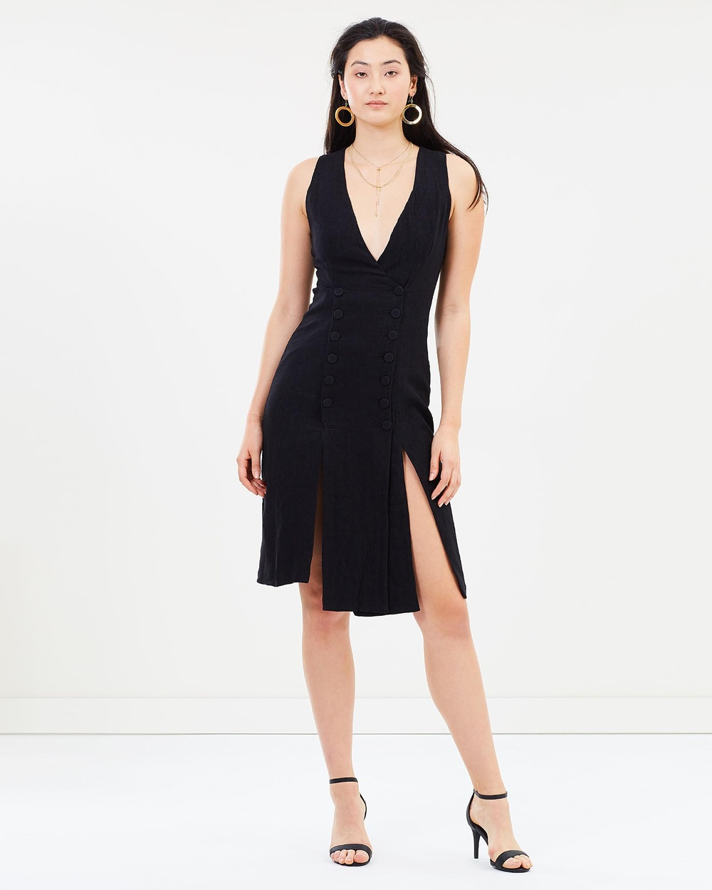 Third Form Closure Midi Dress Dresses Black Closure Midi Dress