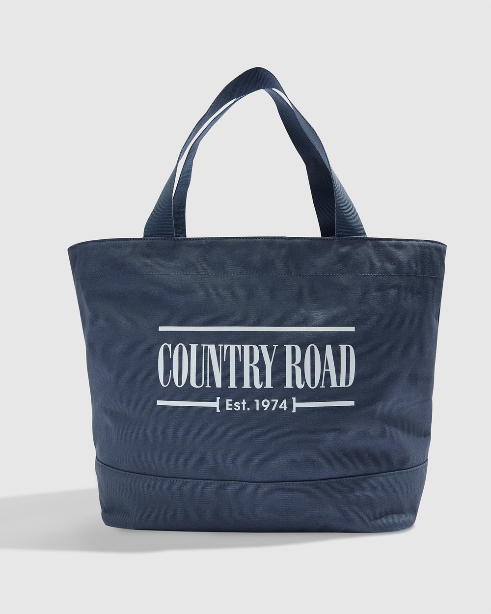 Country Road Printed Heritage Shopper Bags blue
